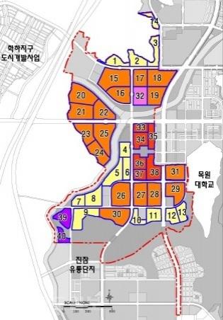 ▲ 도안 2단계 개발계획도